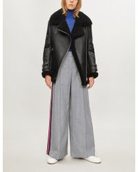 SERENA BUTE LONDON - Side-striped Dogstooth Woven Trousers - Lyst