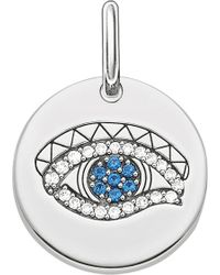 Thomas Sabo - Eye Of Horus Sterling Silver Pendant - Lyst