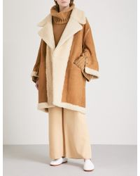 ARJE - Reversible Shearling And Suede Coat - Lyst