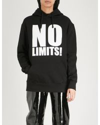 Gareth Pugh - No Limits Cotton-jersey Sweatshirt - Lyst
