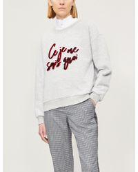 Claudie Pierlot - Trudie Slogan Cotton-blend Sweatshirt - Lyst