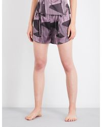 Aimee Kestenberg - Striped Jacquard Silk-blend Pyjama Shorts - Lyst
