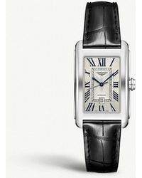 Longines - L57574710 Dolcevita Stainless Steel And Leather Watch - Lyst