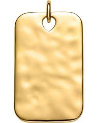 Monica Vinader - Havana 18ct Yellow-gold Vermeil Id Pendant - Lyst
