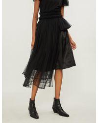 Noir Kei Ninomiya - Asymmetric Layered Tulle Skirt - Lyst