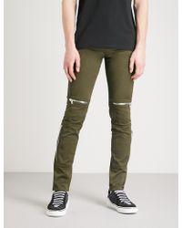 Givenchy | Biker-detail Slim-fit Skinny Jeans | Lyst