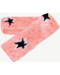 Skinnydip London - Blush Star Faux-fur Scarf - Lyst