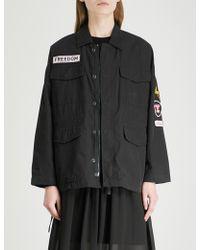 Izzue - Patch-embellished Cotton-blend Jacket - Lyst