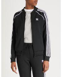 adidas Originals - Striped Jersey Jacket - Lyst
