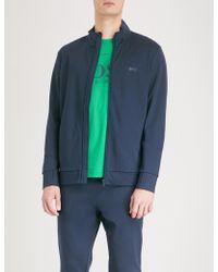 BOSS Green - Logo-print Jersey Sweatshirt - Lyst