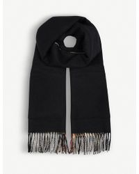 Burberry - House Check Cashmere And Wool Scarf - Lyst
