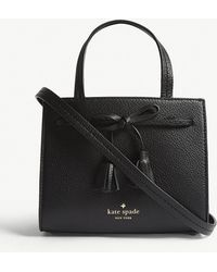Kate Spade - Black Hayes Street Sam Small Leather Tote Bag - Lyst