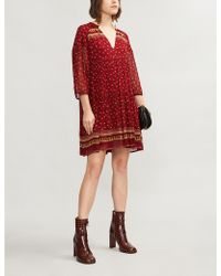 Ba&sh - Bailey Boho-print Georgette Mini Dress - Lyst