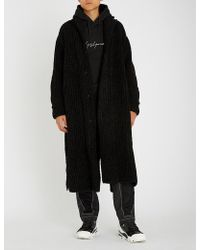 Yohji Yamamoto - Contrast-panel Wool-blend Coat - Lyst
