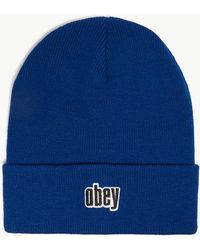 Obey - Highland Knitted Beanie - Lyst