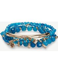 Kendra Scott - Supak 14ct Gold-plated Beaded Bracelet - Lyst