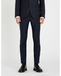 Tiger Of Sweden - Birdseye Slim-fit Tapered Wool Trousers - Lyst