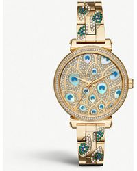 Michael Kors - Mk3945 Sofie Gold-toned Stainless Steel And Crystal Watch - Lyst