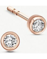 Astley Clarke - Icon Nova 14ct Rose-gold And Diamond Stud Earrings - Lyst