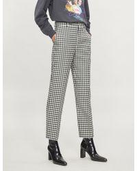 Balenciaga - Vichy Gingham Skinny Wool Trousers - Lyst