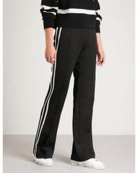 Moncler - Striped-side Jersey Jogging Bottoms - Lyst