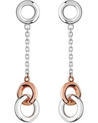 Links of London - 20/20 Sterling Silver And 18ct Rose-gold Drop Earrings - Lyst