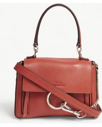 Chloé - Ladies Earthy Red Faye Day Mini Leather Shoulder Bag - Lyst