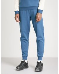 The North Face - Logo-patch Tapered Cotton-jersey Jogging Bottoms - Lyst