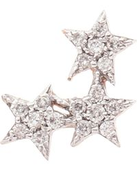 The Alkemistry - 14ct Rose-gold And Diamond Triple-star Earring - Lyst