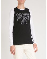 A Bathing Ape - Nyc Cotton-jersey Top - Lyst