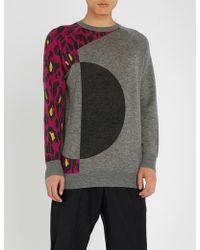 Chalayan - Leopard-sleeve Wool Jumper - Lyst