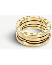 BVLGARI - B.zero1 Three-band 18kt Yellow-gold Ring - Lyst