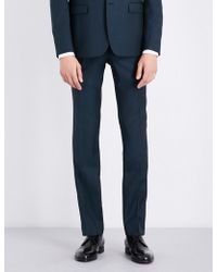 Sandro - Slim-fit Tapered Wool And Mohair-blend Trousers - Lyst