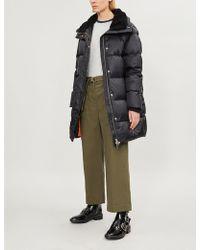 The Kooples - Faux-fur Lined Down-blend Puffer Jacket - Lyst