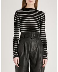 Mo&co. - Striped Wool Jumper - Lyst
