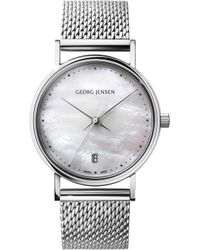 Georg Jensen - Koppel Stainless Steel Mother-of-pearl Watch - Lyst
