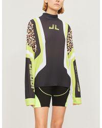 Jaded London - Leopard-print Panelled Jersey Top - Lyst