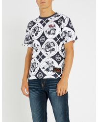 Evisu - Godhead-print Cotton-jerey T-shirt - Lyst