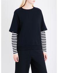 5cm - Striped-sleeve Cotton-jersey Sweatshirt - Lyst