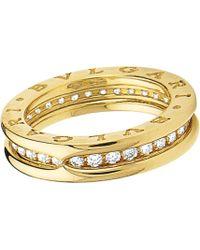 bvlgari bzero1 oneband 18kt yellowgold and diamond ring