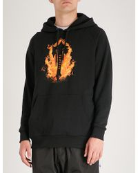 Trapstar - Fire Flame-print Jersey Hoody - Lyst