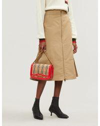 Burberry - Lagan Cotton And Silk-blend Skirt - Lyst