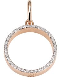 Monica Vinader - Naida 18ct Rose-gold Vermeil And Diamond Pendant - Lyst