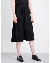 Pleats Please Issey Miyake | Thicker Cropped Pleated Trousers | Lyst
