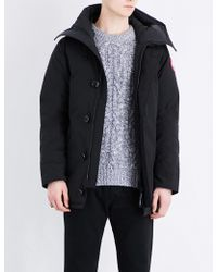 Canada Goose - Mens Black Chateau Quilted Parka - Lyst