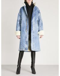 Fear Of God - Fifth Collection Shearling And Selvedge Denim Coat - Lyst