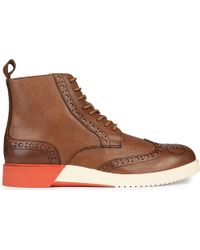 Anthony Miles - Burrell Leather Contrast Boots - Lyst