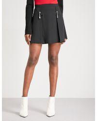 Versus - Saftey Pin-detail Crepe Skirt - Lyst