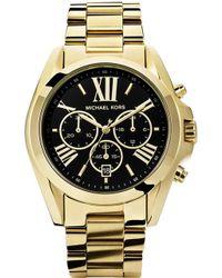 e58118f74ed2 Michael Kors - Mk5739 Bradshaw Gold-plated Watch - Lyst