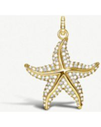 Thomas sabo starfish sterling silver and turquoise pendant in thomas sabo starfish 18ct yellow gold and zirconia pendant lyst aloadofball Gallery